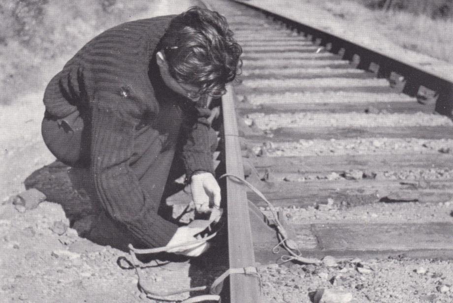 L'exposition donne à voir des images jamais présentées comme le résistant roquebrunois, Louis Lottier, sabotant la voie SNCF en 1943.
