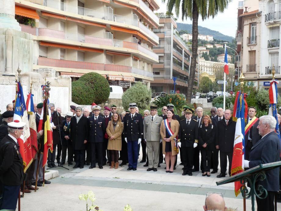 La cérémonie a eu lieu hier, en présence des élus, anciens combattants, porte-drapeau et la population.