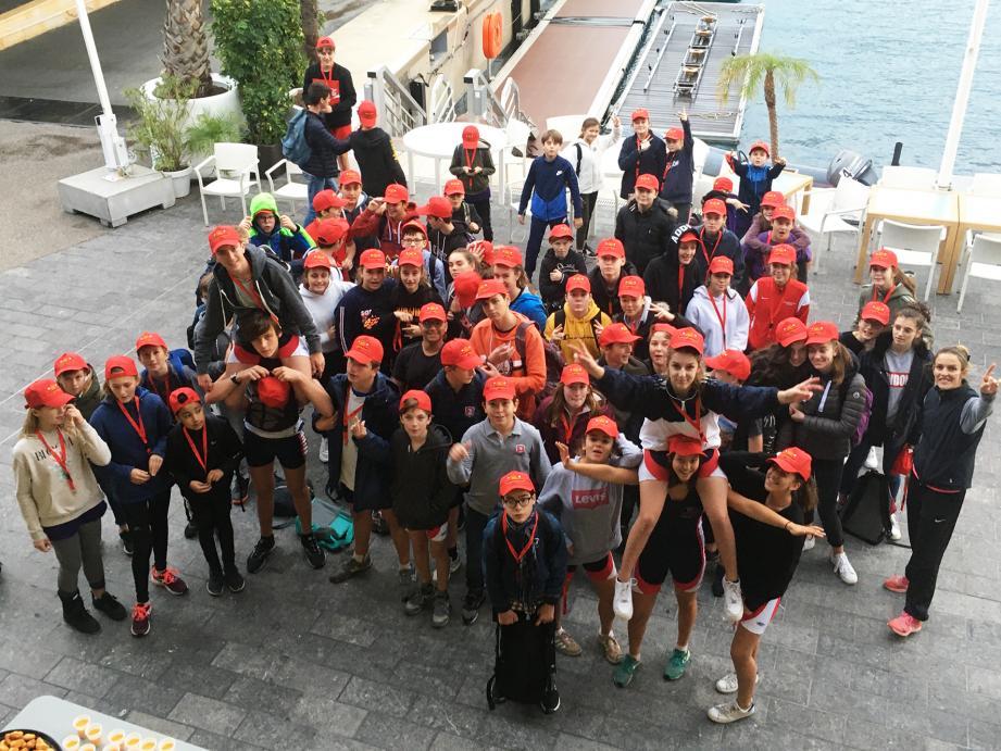 Chaque participant est reparti avec une casquette aux couleurs du  challenge Prince Albert II.
