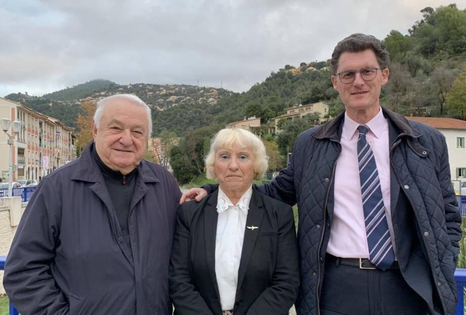 Daniel Philippot, Claudette Prozzo et Patrick Monica.