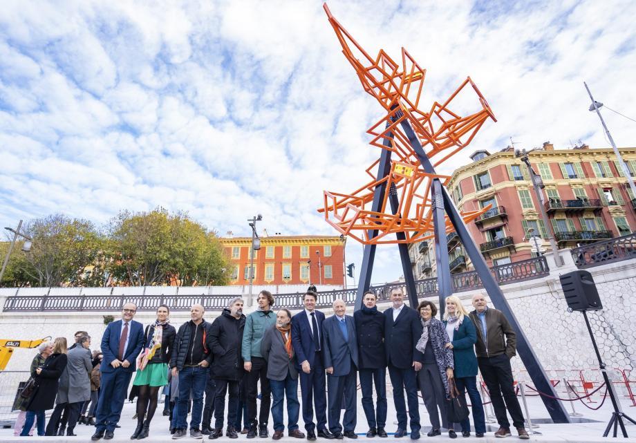 L'œuvre de Noël Dolla récemment inaugurée sur le port de Nice.