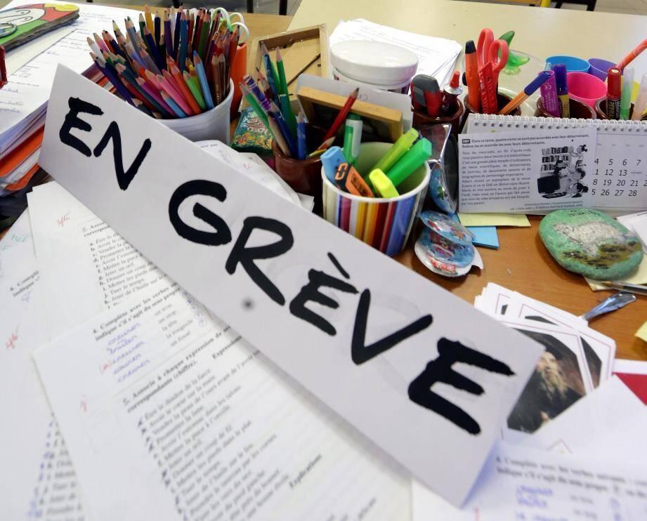Dans les écoles maternelles et primaires, le taux de grévistes pourrait être de près de 20 %.