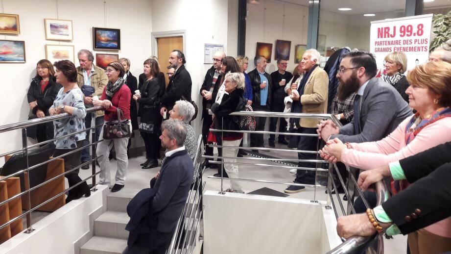 Le vernissage a eu lieu dans les locaux du Crédit Mutuel en présence d'un public venu nombreux.