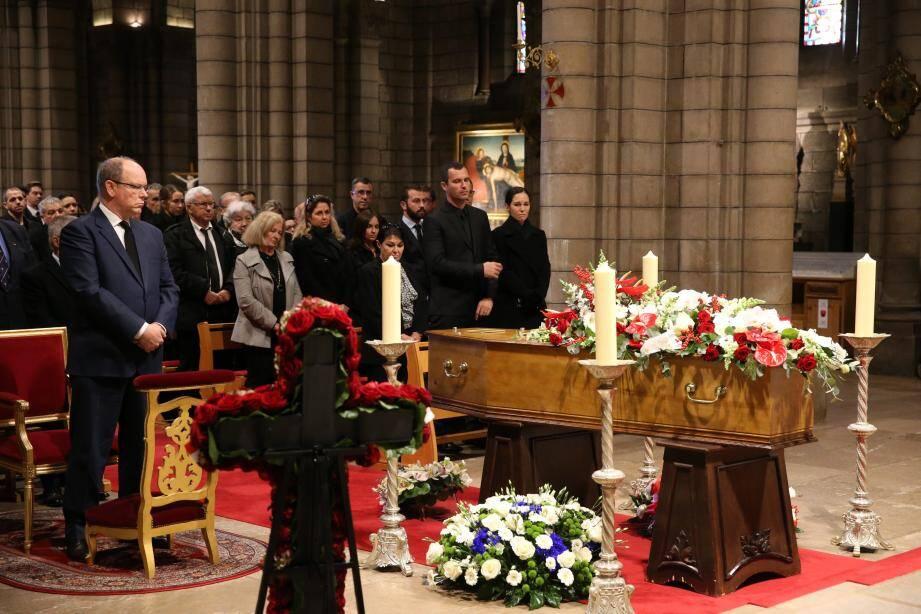 Le prince Albert II est venu rendre hommage à Henri Biancheri.