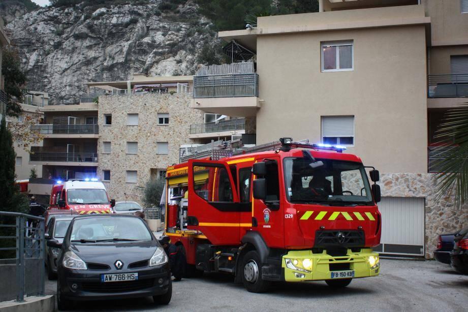 Près d'une trentaine de pompiers sont intervenus pour ce feu d'appartement.