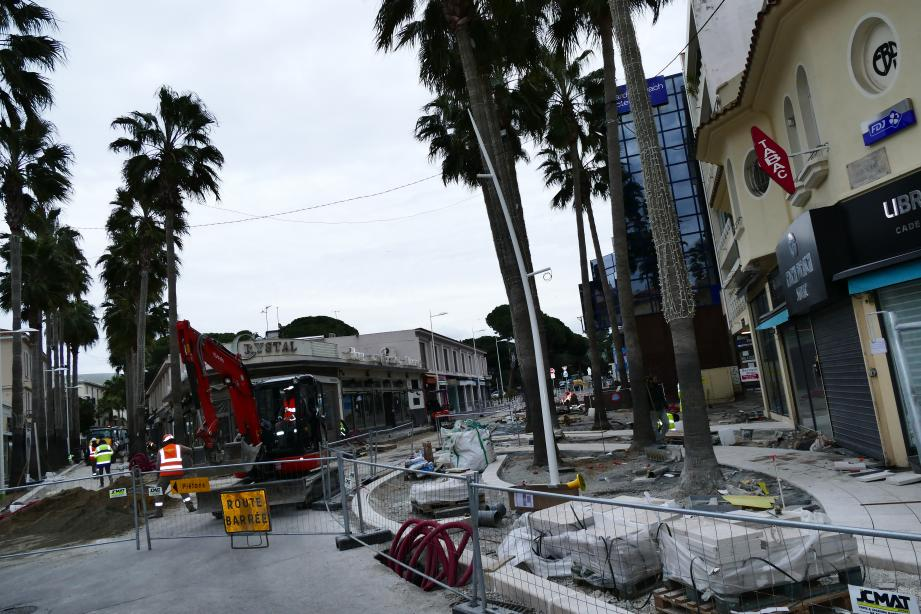 Les travaux de réaménagement sont en cours dans le cœur de la station balnéaire.