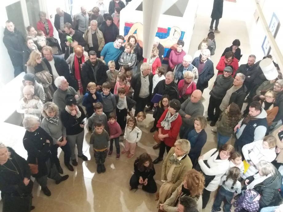 Le travail des Matisse en herbe a été apprécié par un nombreux public lors du vernissage.