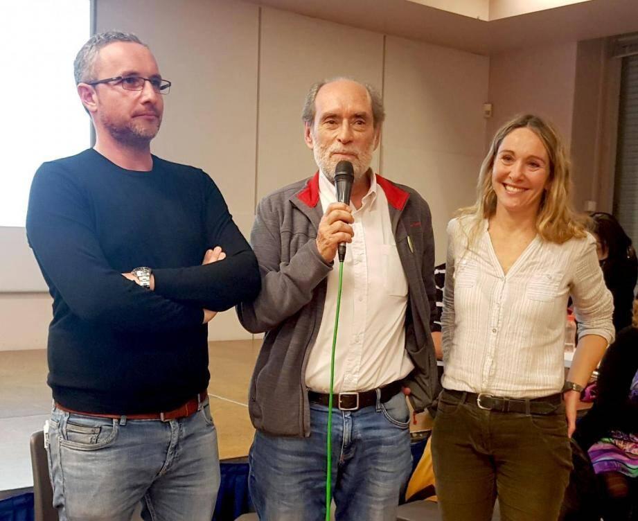 Guy Rebec (au centre) a été désigné tête de liste. Magali Brunel et Emmanuel Trigo seront en deuxième et troisième position.