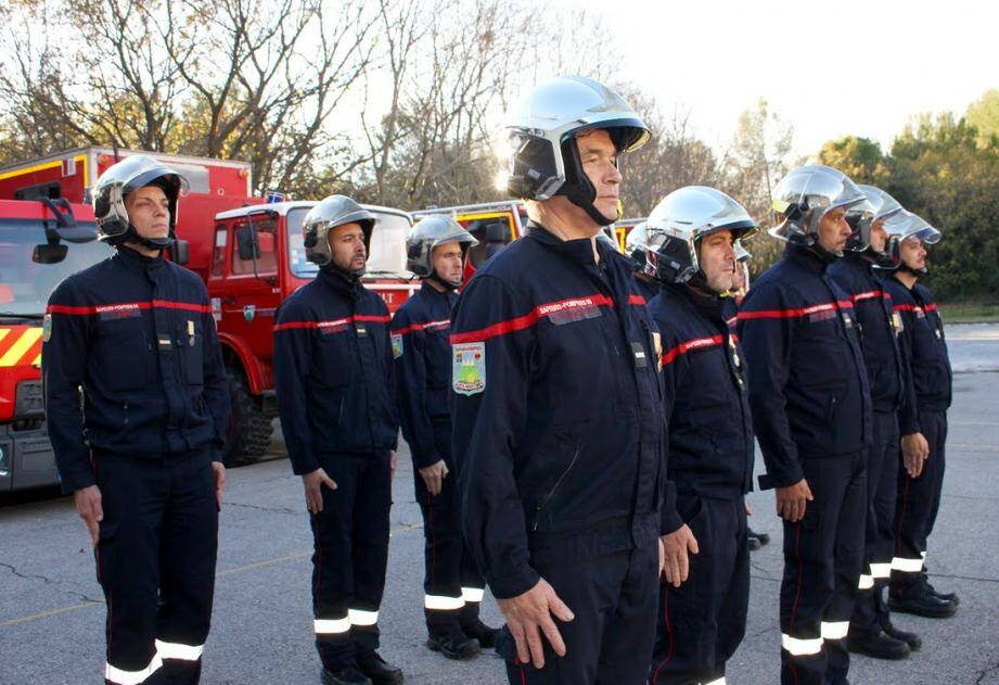 Les sapeurs-pompiers de la commune et de la technopole ont rendu hommage à leur sainte patronne.