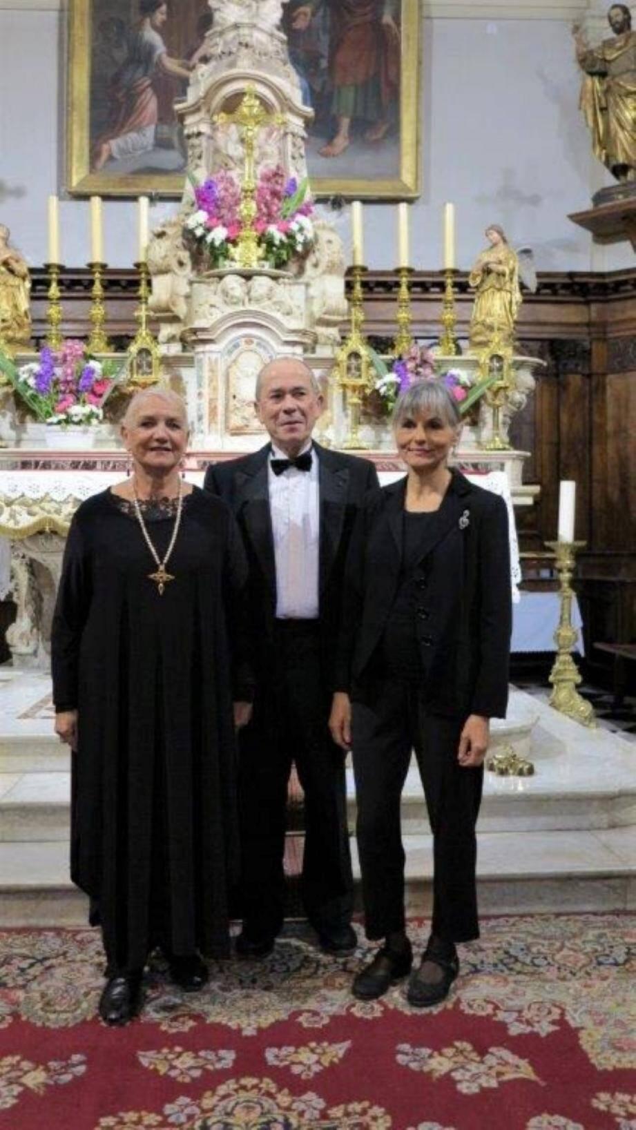 Yan Zawacki mezzo soprano, Lydia Kawecka claveciniste et chanteuse de Verone, et Dominique Deville seront accompagnés par Alain Pupier, chef du chœur. (Repro DR)