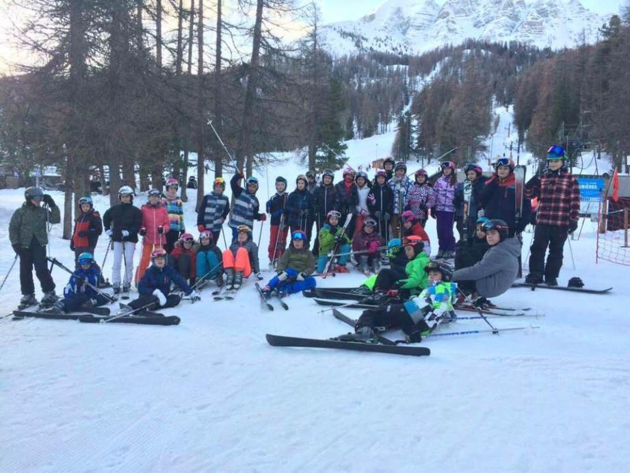 Une cinquantaine d'élèves a la chance chaque année de profiter d'un séjour au ski.