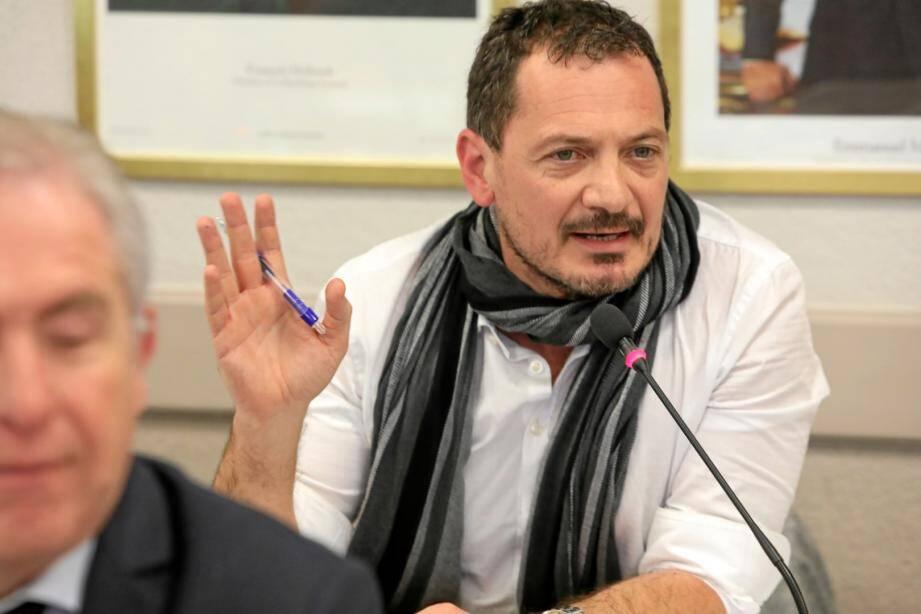 Cédric Garoyan siège dans l'opposition au conseil municipal de Cagnes.