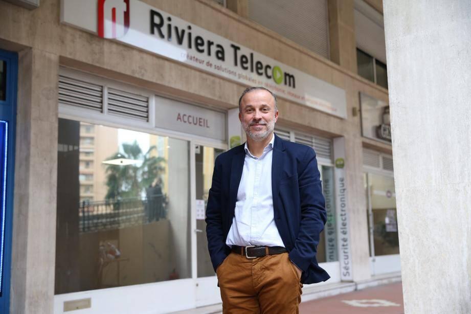 David Fontaine dirige la société Riviera Télécom, qui vient de célébrer ses cinquante années d'activités.