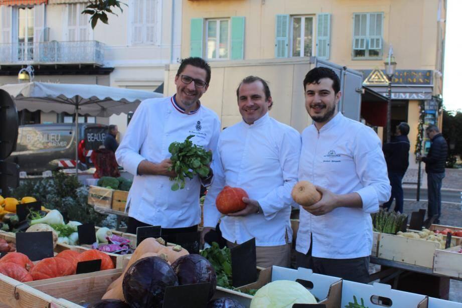 Julien Roucheteau, Jérôme Deloncle et Gianluca Giorgeschi.
