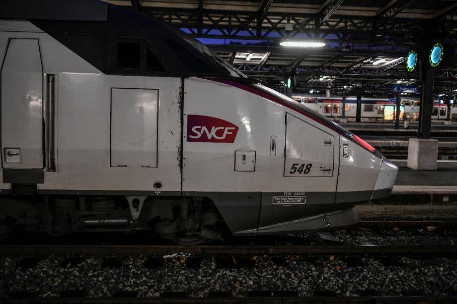 Un TGV gare de l'Est à Paris le 23 décembre 2019