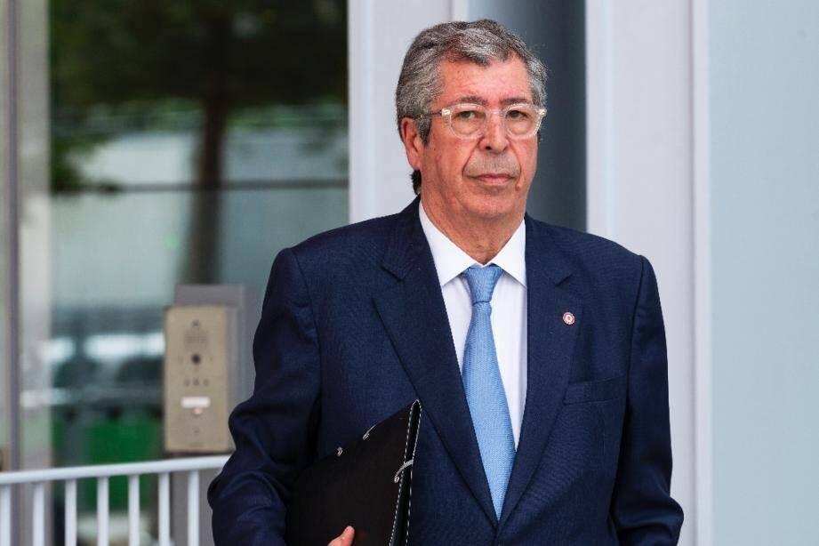 Le maire de Levallois-Perret Patrick Balkany à son arrivée à son procès au tribunal de Paris le 22 mai 2019