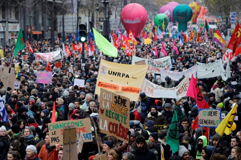 Manifestation contre le projet de réforme des retraites le 5 décembre 2018 à Paris