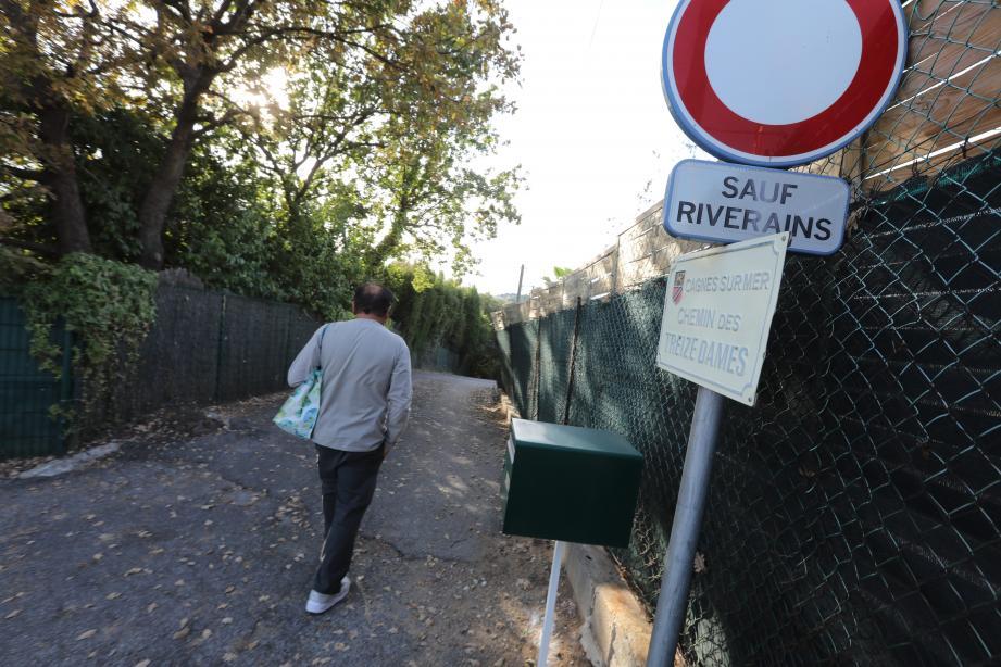 Le chemin des Treize Dames, à Cagnes-sur-Mer.