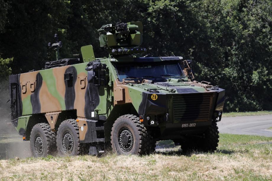 Un blindé Griffon le 4 juillet 2019 à Satory (Yvelines)