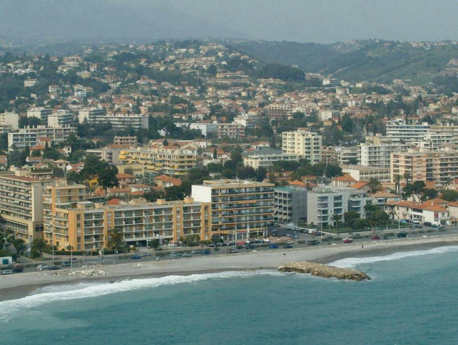 Vue aérienne de Cagnes-sur-Mer.