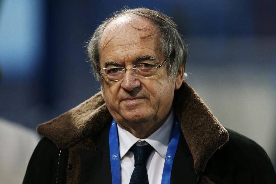 Noël le Graet, président de la FFF, le 15 septembre 2017, lors du match amical entre les Françaises et les Chiliennes au stade Michel D'Ornano de Caen.