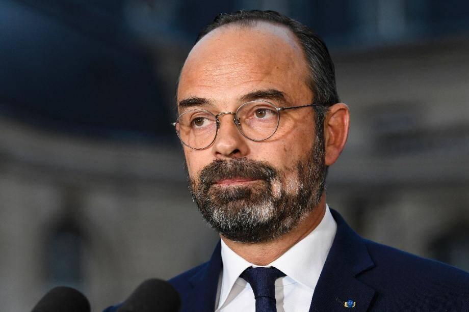 Le Premier ministre  Edouard Philippe, confronté à un mouvement social sur les retraites donne une conférence de presse à Matignon, le 6 décembre à Paris