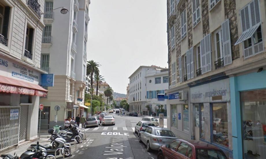 La rue Valperga à Nice