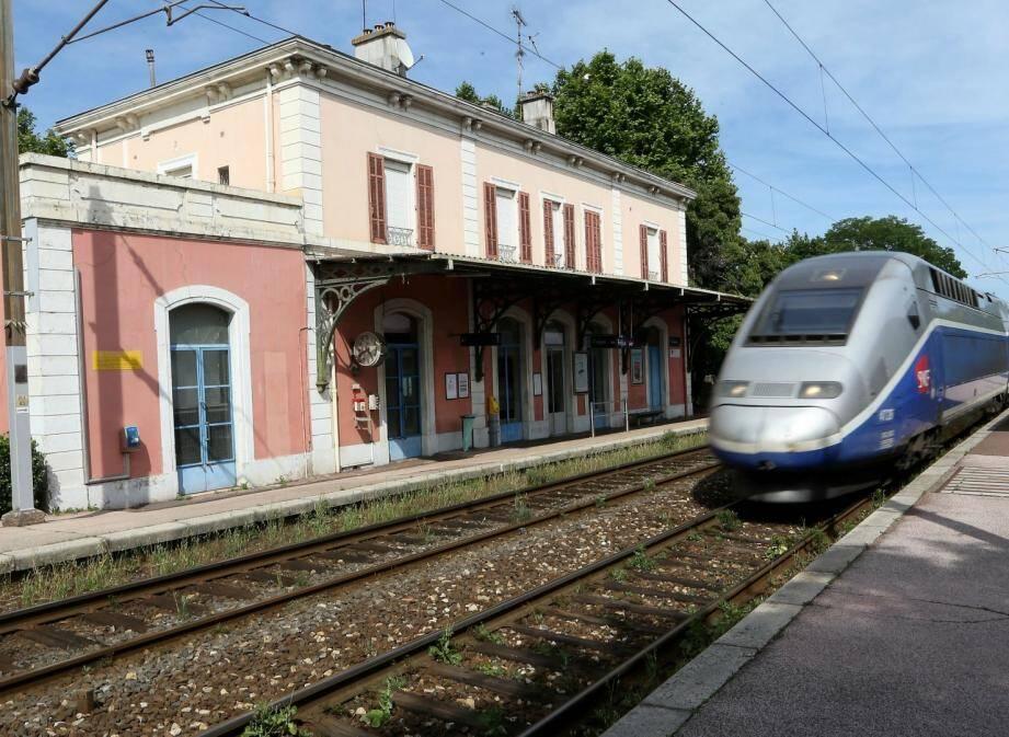 La gare de Fréjus.