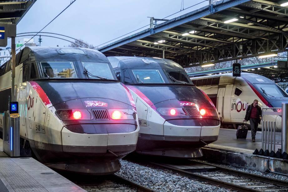 Seulement 6 TGV sur 10 circulent aujourd'hui.