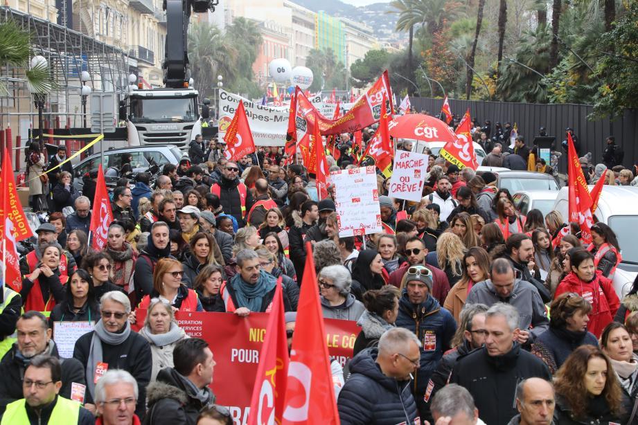 Venus de tout le département, des milliers de manifestants ont battu le pavé, jeudi à Nice contre la réforme des retraites.