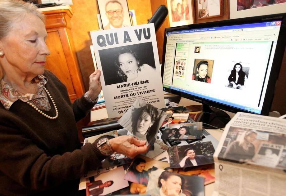 La mère de Marie-Hélène Audoye, disparue en 1991, n'a jamais cessé de la chercher.