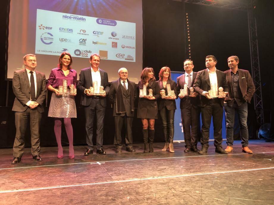Les lauréats de l'édition 2019 des Trophées de l'Eco Nice-Matin.