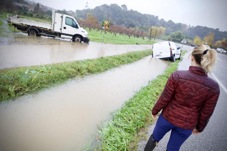 Les dégâts des inondations dans la vallée de la Siagne.