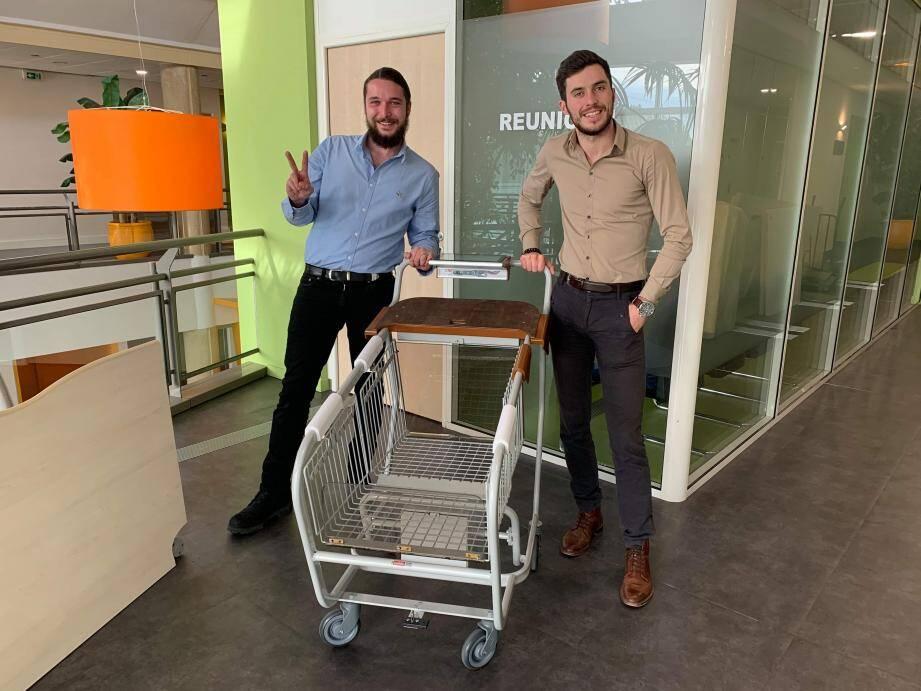 Belle revanche pour les deux dirigeants de Knap qui avaient proposé leur concept de chariot connecté lors d'un Startup Weekend et qui avaient vu leur idée descendue en flèche.