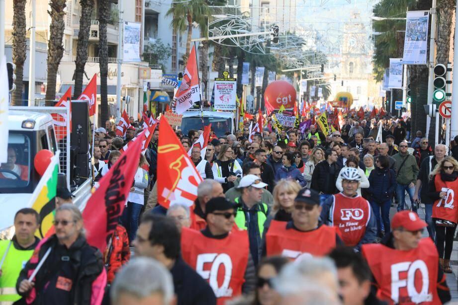 Une manifestation est prévue ce mardi à Toulon.