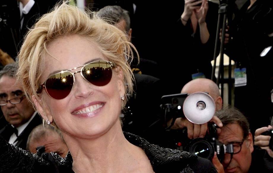 Sharon Stone à Cannes en 2014