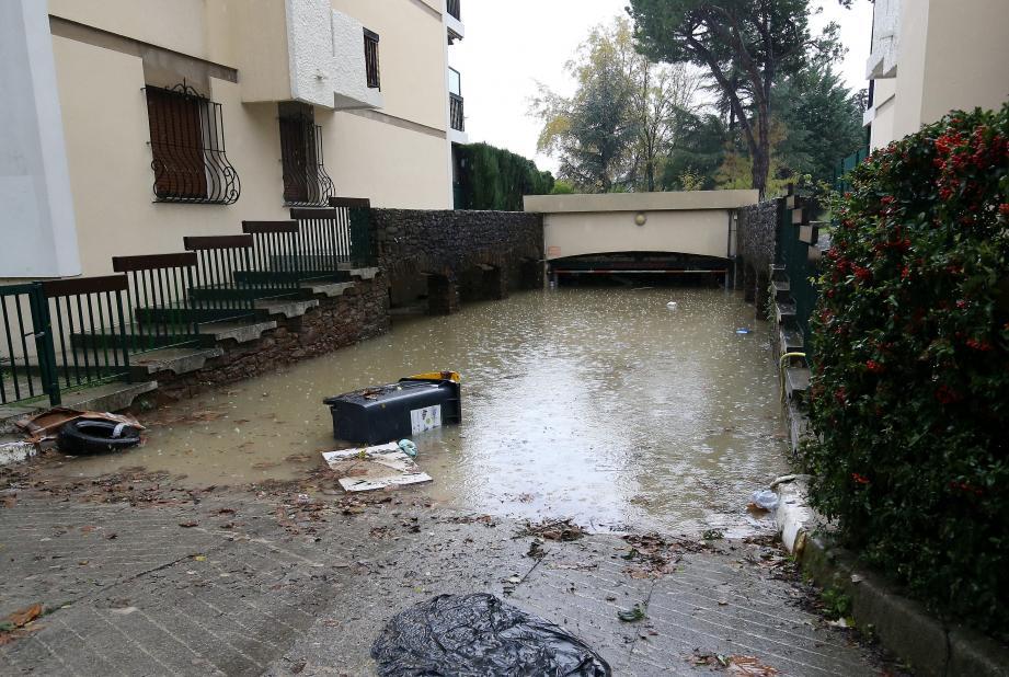 Les dégâts liés aux intempéries du week-end dernier avaient été importants à Villeneuve-Loubet.