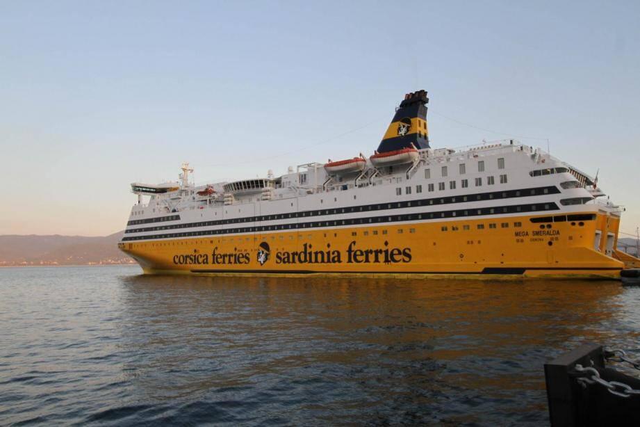 Illustration d'un Corsica Ferries.
