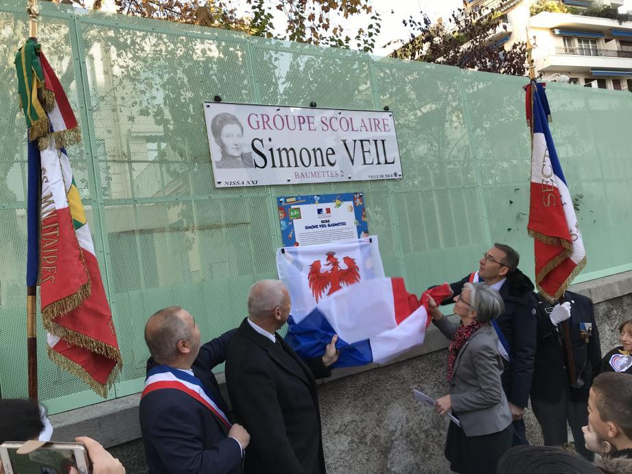 Il y a désormais une école Simone-Veil à Nice.