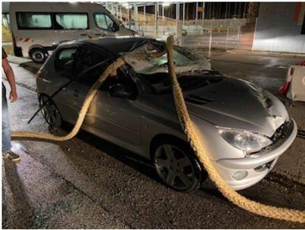 Une amarre d'un ferry s'est écrasée sur une voiture sur le port de Toulon.