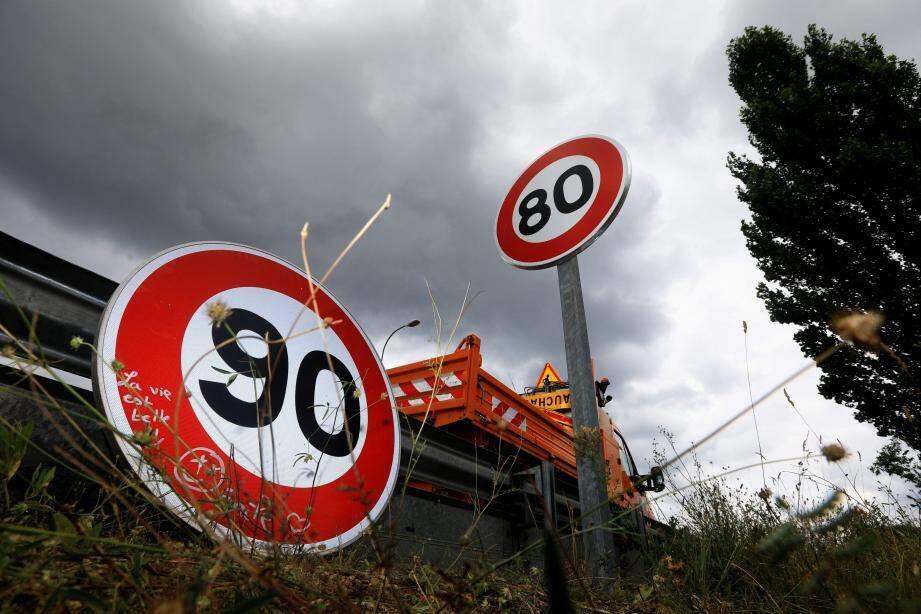 Le 80km/h reste la norme sur les routes départementales azuréennes.