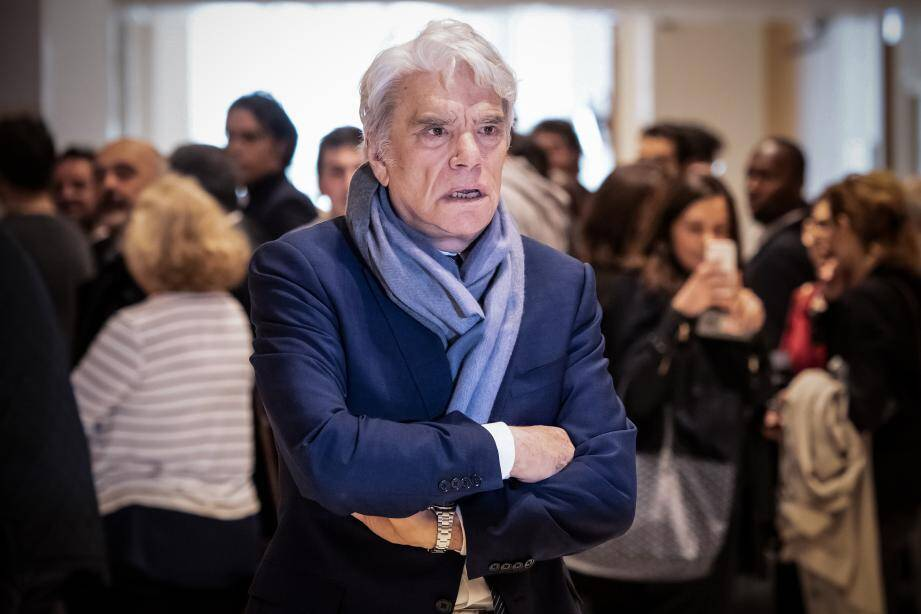 Bernard Tapie en avril 2019, lors d'une audience au tribunal de commerce de Paris.