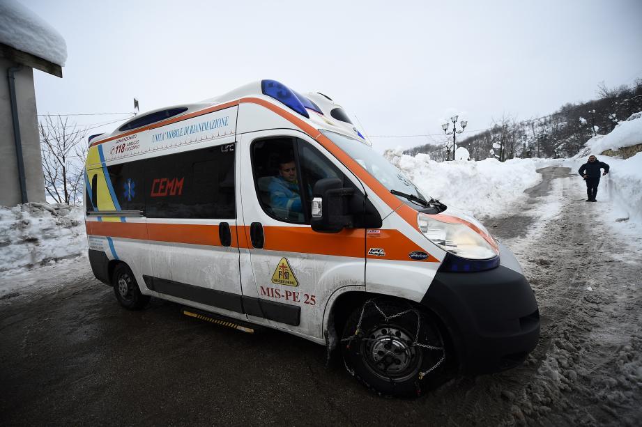 Une ambulance de secouristes italiens. (Photo d'illustration).