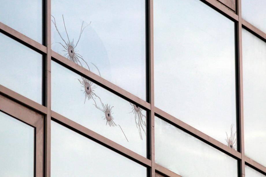Des impacts de balles sur un bâtiment en Corse (photo d'illustration).