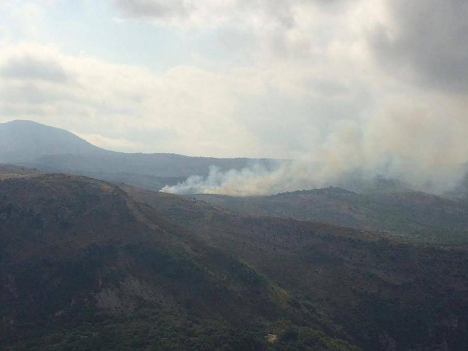 Un incendie au col de Vence en 2016 (image d'illustration).