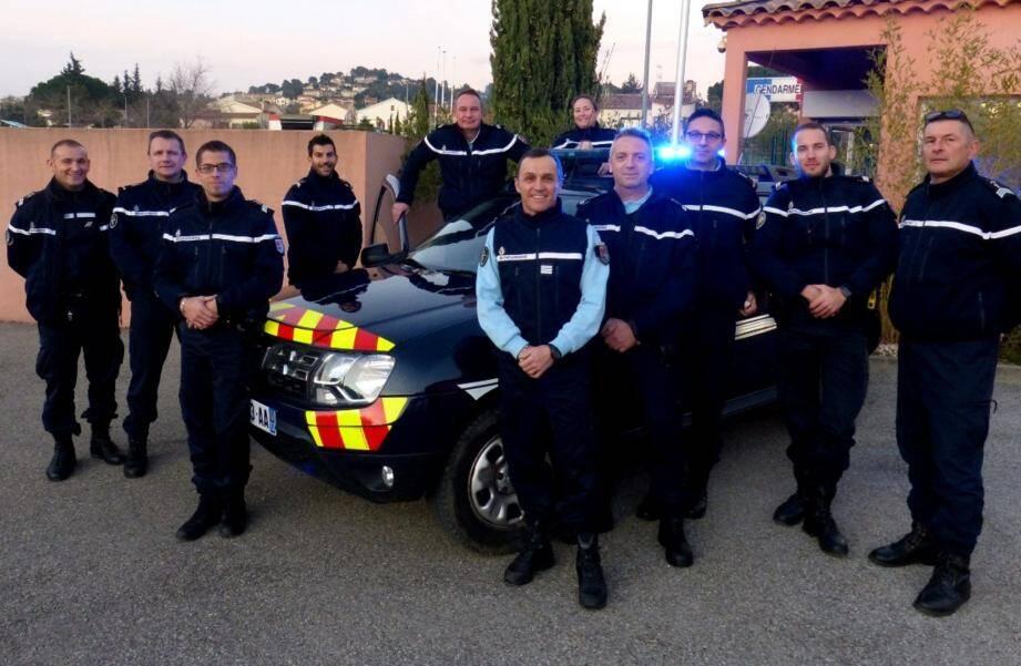 Les militaires de garde pour la Saint-Sylvestre.