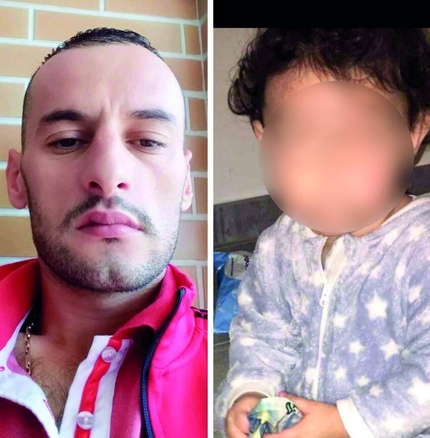 Ci dessus, Erjol, papa du fils d'Olivia, qui vit en Albanie. Ci-contre, Olivia et le petit garçon lors d'une promenade à Cannes. (DR)