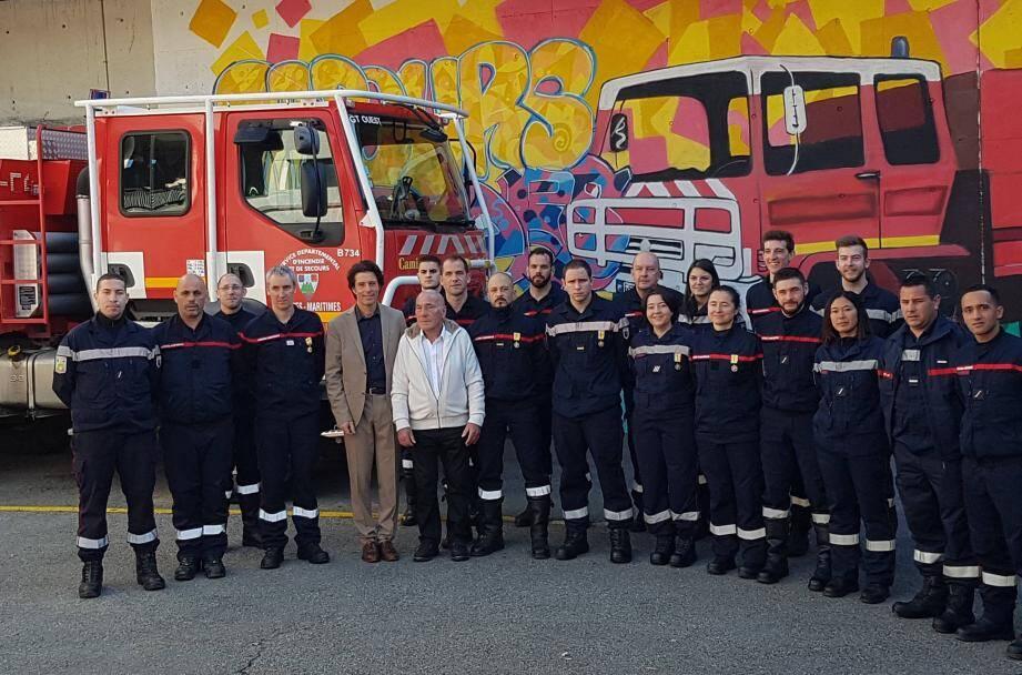 Six médailles ont été remises par le maire, Pierre Aschieri, et le conseiller municipal Daniel Paulin, président de l'amicale des sapeurs pompiers volontaires.