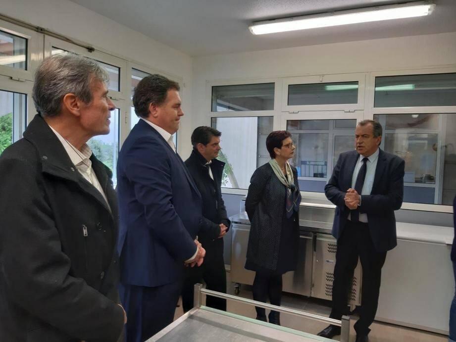 L'inaugurationa eu lieu en présence notamment de Philippe Tabarot, conseiller régional et de Jérôme Viaud, président de la CAPG.