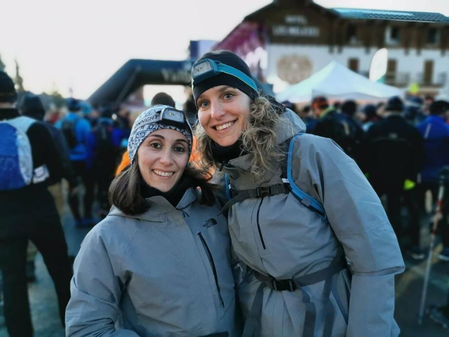 Aurélie et Célia lors du Snow trail de Valberg.(DR)